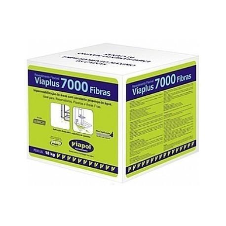 VIAPLUS 7000 FIBRAS 18 KG IMPERMEABILIZANTE FLEXIVEL 18KG VIAPOL