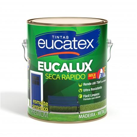 TINTA ESMALTE EUCALUX BRILHANTE 3,6 LITROS COR GRAFITE ESCURO EUCATEX
